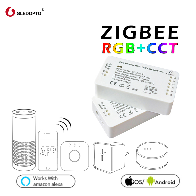 GLEDOPTO ZIGBEE controller zll  link light RGB+CCT led controller dc12-24v  smart app control work  Compatible with  zigbee 3.0GLEDOPTO ZIGBEE controller zll  link light RGB+CCT led controller dc12-24v  smart app control work  Compatible with  zigbee 3.0