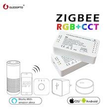 G светодиодный OPTO zigbee контроллер zll звено, светлый RGB + CCT Светодиодный контроллер DC12-24V smart app контроль работы Совместимость с zigbee 3,0
