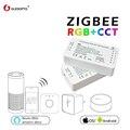 GLEDOPTO ZIGBEE regolatore zll di collegamento luce di RGB + CCT led regolatore della striscia dc12-24v app di lavoro di controllo Compatibile con zigbee 3.0