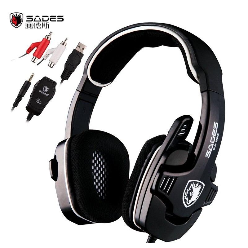 ФОТО Sades SA-922 3 in 1 Professional Gaming Headset 7.1 Stereo Sound USB Headphones Microphone for PS3/XBOX/PC Fone Gamer Earphone