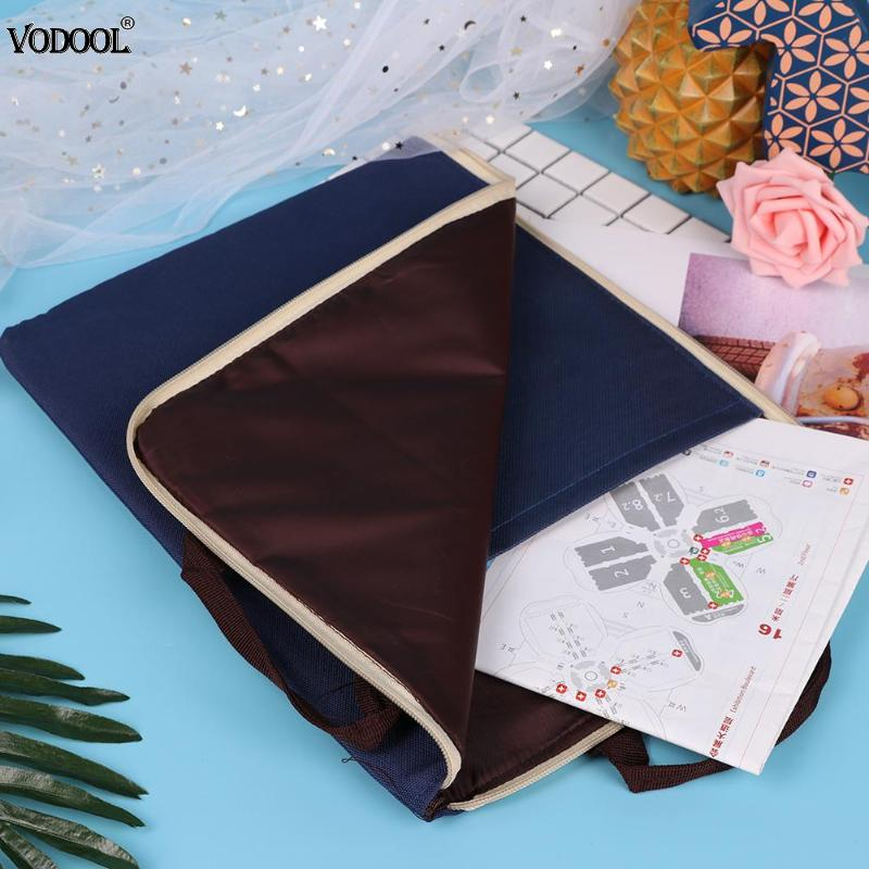 4 Colors Business Briefcase Suitcase Storage File Folder Oxford Cloth Document Bag Student Stationery School Office Supplies