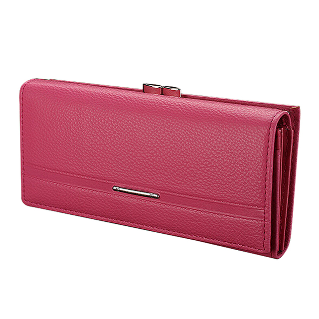 Wallet Women s Wallet Clutch Long Design Clip Wallet Long Wallets Coin Purse  Bag Rose Red a0a21bd912e05