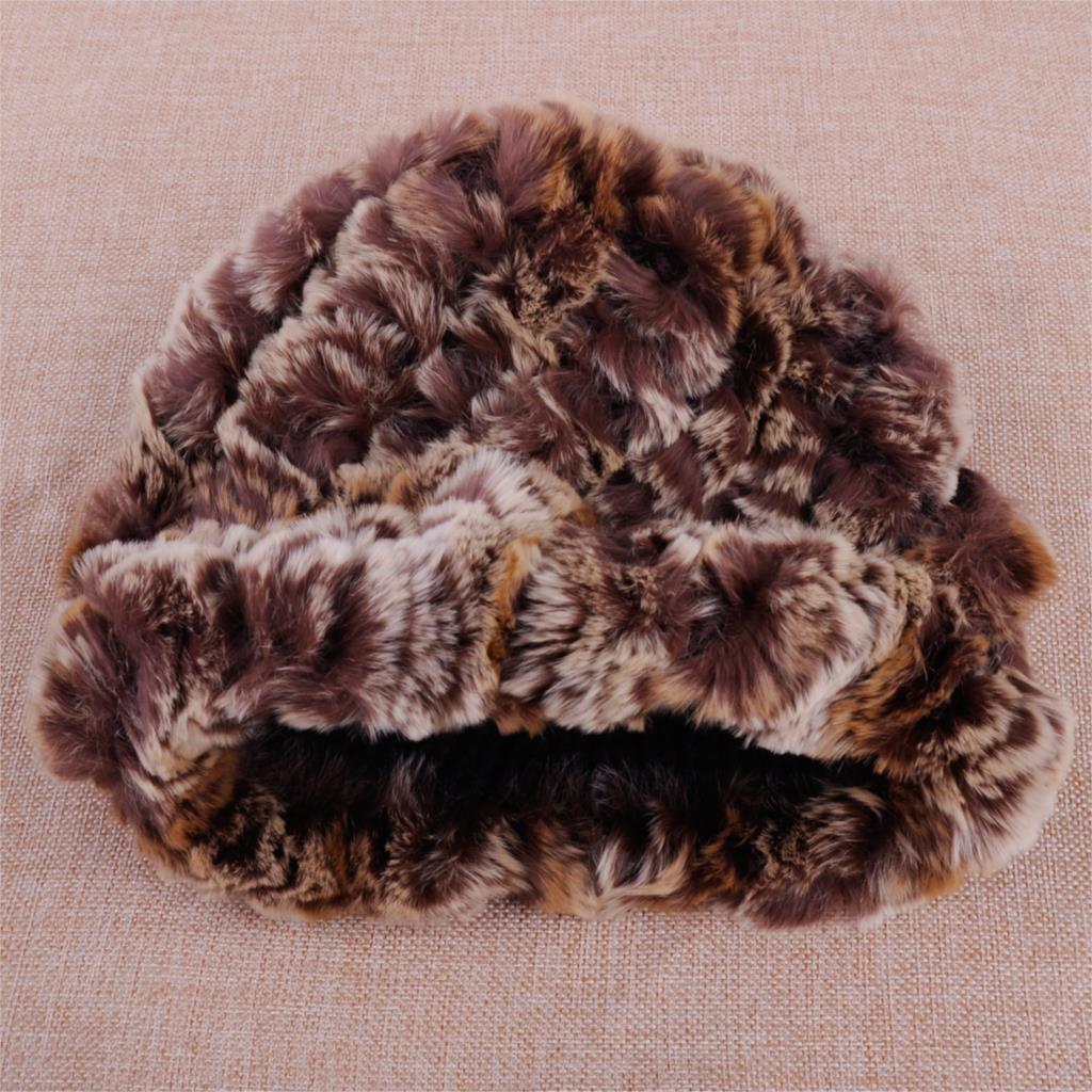 c5e5e1f5d Aliexpress.com : Buy Russian Cossack Style Women Rabbit Fur Pineapple Cap  Winter Snow Knit Beanie Hat Fashion Warm from Reliable Skullies & Beanies  ...