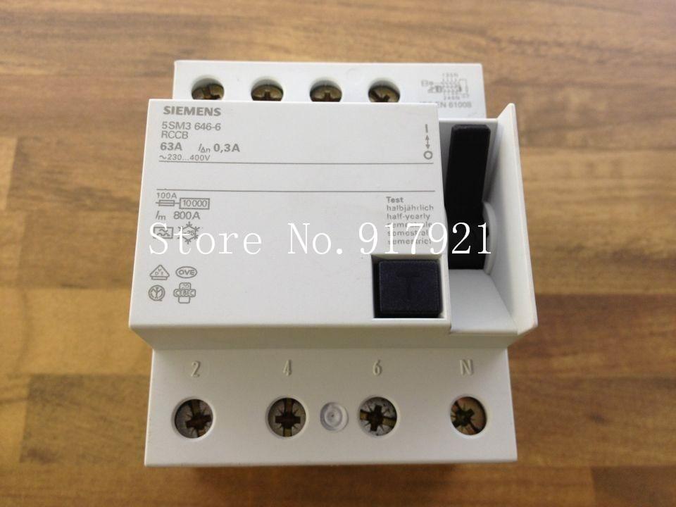 [ZOB] original original 5SM3 646-6 circuit breaker 4P63A 30MA RCCB original dhl ems 5 lots original s 3vu1300 1mm00 circuit breaker a1