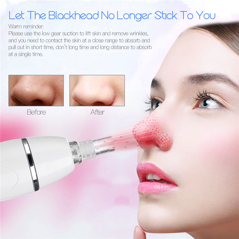 Blackhead Remover Vacuum Pore Cleanser Electric Face Lifting Black Head Suction Acne Removal Tool with 12 Replaceable Heads 45