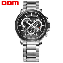 DOM watch man fashion sports quartz for man military chronograph wrist watches men army style 2020 free shipping M-506