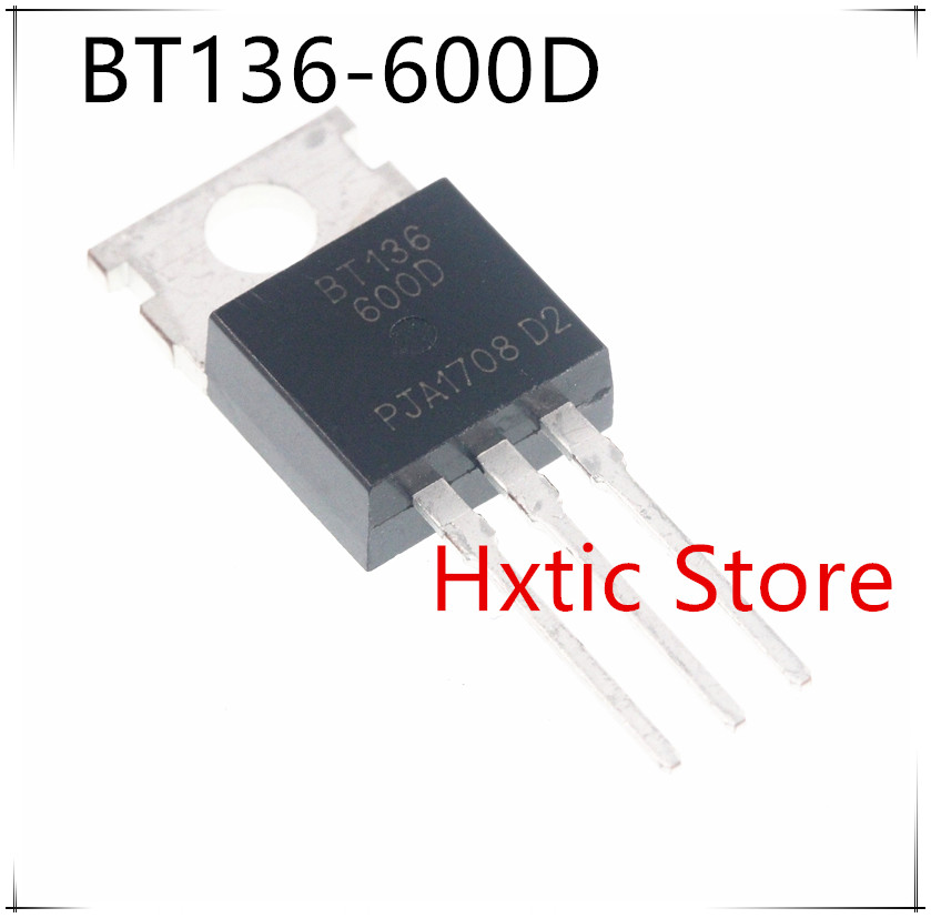 10pcs/lot BT136-600D BT136 600D TO-220 TRIAC Original Authentic