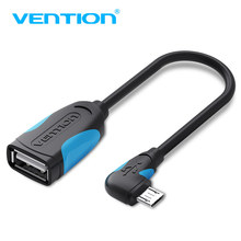 Vention OTG Adapter Micro USB to USB 2.0 Converter OTG Cable 90 Degree for Android Samsung Galaxy Xiaomi Tablet