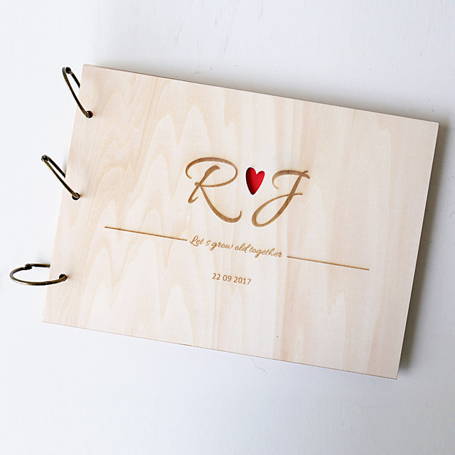 Us 2049 18 Offheart Guest Book Wedding Guest Book With Your Initials Rustic Guest Book Custom Engraved Wooden Guest Book M In Signature Guest