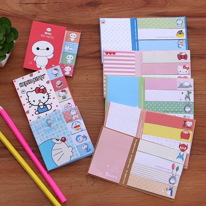 Leuke Hello Kitty Totoro Papier Memo Pad Zelfklevende Aantekeningen - Notitieblokken en schrijfblokken bedrukken