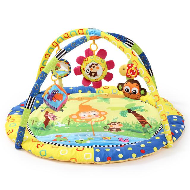 Macaco bonito Dos Desenhos Animados Do Bebê Crianças Brinquedo Educativo Jogo Ginásio Jogar Bebê Cobertor Rastejando Almofadas Tapetes de Esportes Indoor