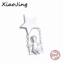Alta calidad original Forma encantos de pandora pulseras diy colgante de plata 925 original star girl Regalo de perlas para La Joyería de las mujeres