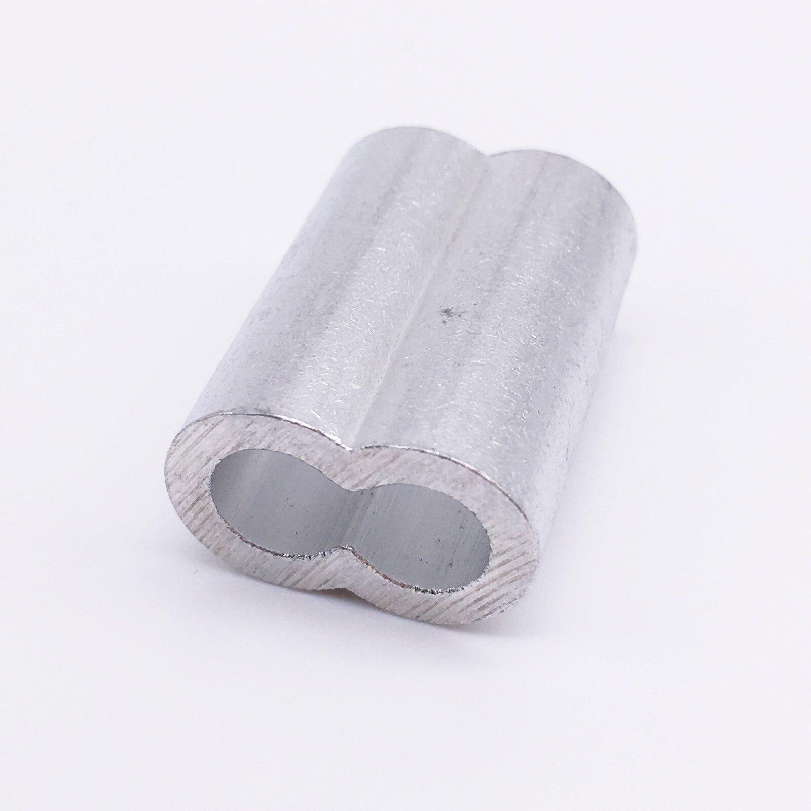④M3 Aluminum Ferrules wire rope aluminum ferrules sleeve 500 pieces ...