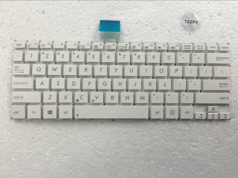 US Laptop Keyboard for <font><b>ASUS</b></font> F200 F200CA F200LA F200MA X200 X200C <font><b>X200CA</b></font> X200L X200LA X200M X200MA R202CA R202LA white English image