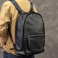 Элитный бренд человек мягкий кожаный рюкзак мешок Для женщин Классический дизайн из натуральной кожи Bagpack большая емкость рюкзак школьный