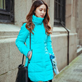2016 New Autumn Winter Women Cotton-Padded Jacket Hooded Candy Color Slim Thick Warm Down Cotton Coat Women Parka Plus size 6XL