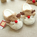 New Christmas cartoon cute elk cotton home slippers women autumn and winter non-slip soft shoes