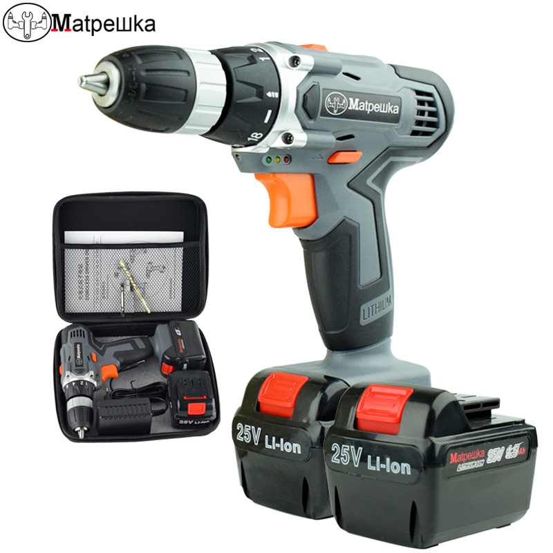 25V rechargeable cordless screwdriver household cordless lithium battery electric drill Screwdrivers with 2 batteries25V rechargeable cordless screwdriver household cordless lithium battery electric drill Screwdrivers with 2 batteries