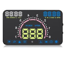 HUD Head Up Display OBDII Interface Engine Fault Alarm Dynamic Speed Multi-color Design Ano-technology E350 Auto Car 5.8 Inch