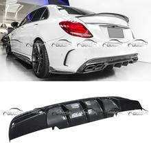 for Mercedes Benz W205 4 Door AMG & C63 FD Style Carbon Fiber Rear Bumper Spoiler Diffuser Car Styling цены онлайн
