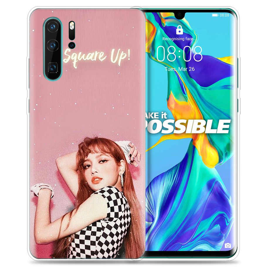 Ốp lưng cho Huawei P30 P20 P10 P9 Giao Phối 10 20 Lite Pro Mobile Túi Điện Thoại P Smart Z 2019 plus Blackpink Đen Hồng Kpop Bé Gái P8