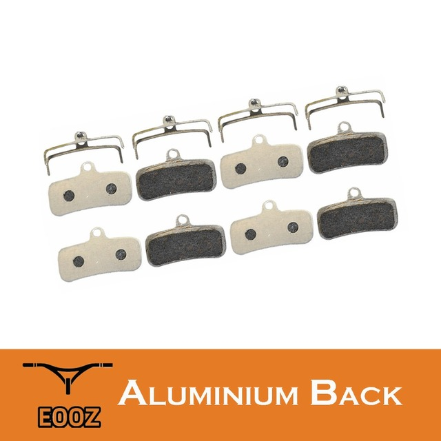 EOOZ 4 Pairs Super Light Bicycle Semi-metallic Disc Brake Pads Aluminum Alloy Back For SHIMANO Saint M810 M820 ZEE M640 H01
