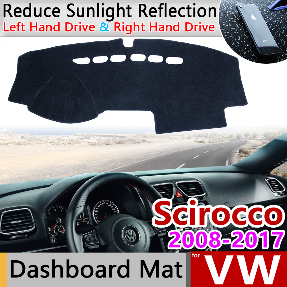 For Volkswagen VW Scirocco 2008~2017 Anti-Slip Mat Dashboard Cover Pad Sunshade Dashmat Car Carpet Accessories 2009 2010 2015