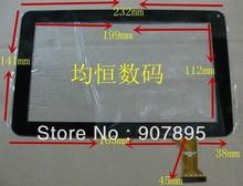 Новинка, сенсорный экран для планшета 9 дюймов, цифровой преобразователь сенсорной панели, стеклянный ЖК-датчик, с указанием размера и цвета