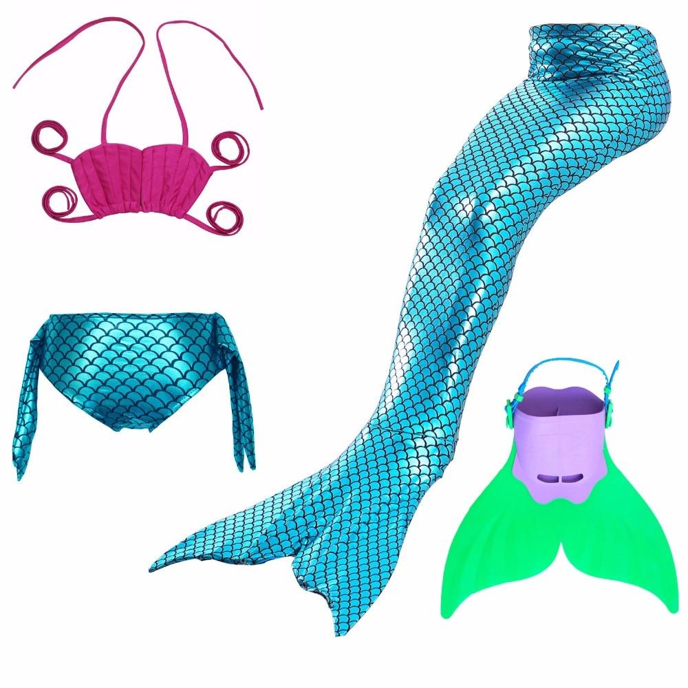 Mother & Kids Enthusiastic Princess Girls Mermaid Tails Summer Swimsuit Costume Girls Three Piece Swimming Bikini Kids Beath Suits Swimwear 2018 New 3-8 Yr