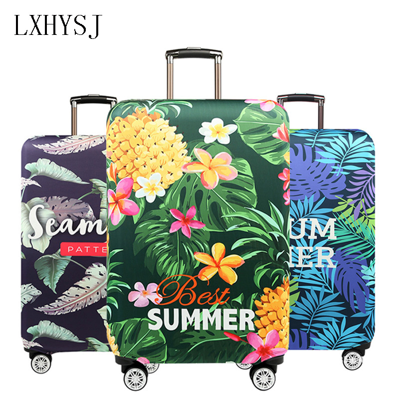 Flower Pattern Luggage Cover Elastic Luggage Protective Covers Suitable For 18-32 Inch Suitcase Case Travel Accessories