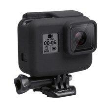 لينة سيليكون إطار قياسي واقية شل الإسكان غطاء صندوق ل Gopro بطل 7 أسود 6 5 عمل كاميرا اكسسوارات مجموعة