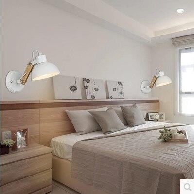 Blanco Nórdico Moderno LED Lámparas De Pared Para Dormitorio De Madera Pared  Sconce Lamparas Pared Led Wandlamp Arandela En LED Lámparas De Pared De ...