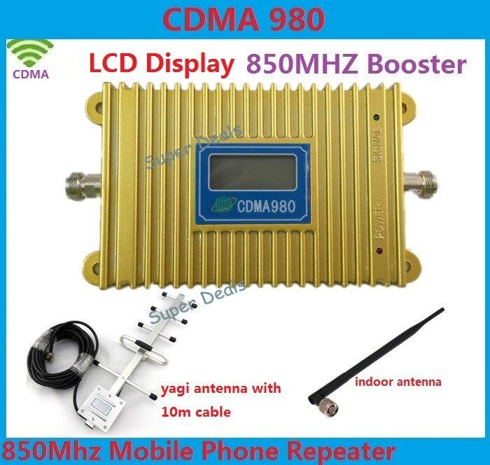 CDMA 850Mhz booster mobile phone signal booster gsm repeater amplifier repetidor de sinal de celular + 13dbi Yagi Antenna