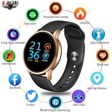 LIGE Smart Bracelet Sport smart watch Women IP67 Waterproof Fitness Tracker Screen heart rate Monitor Pedometer Smart Wristband