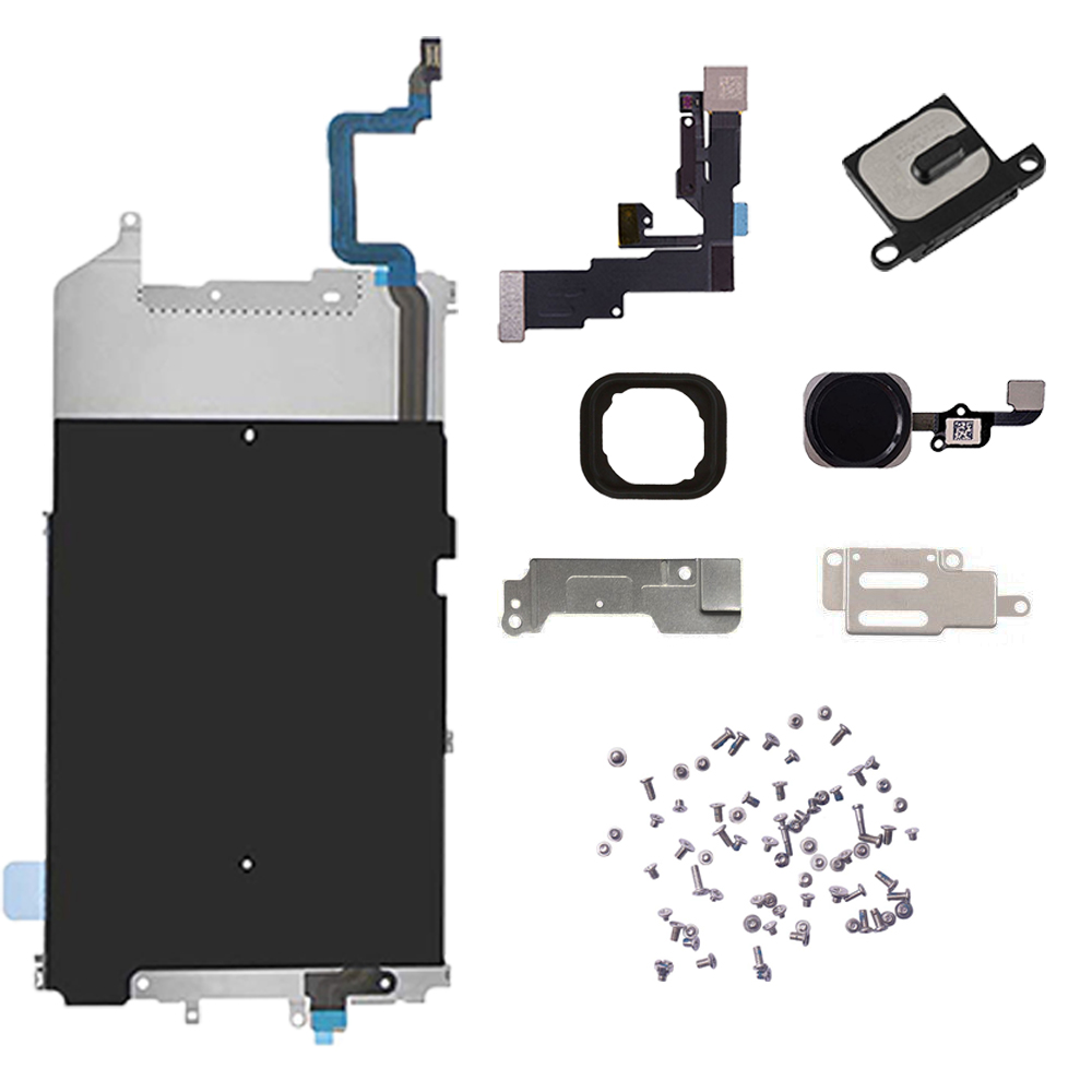 for iPhone 6 6 Plus Screen LCD Metal Bracket Front Camera Flex Cable Small Parts Replacement with full set screws image