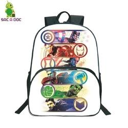 16 Cal torby szkolne dla dziewcząt chłopiec Avengers dzieci plecaki przedszkole codziennie Plecak podróżny dzieci Plecak Plecak Szkolny 5