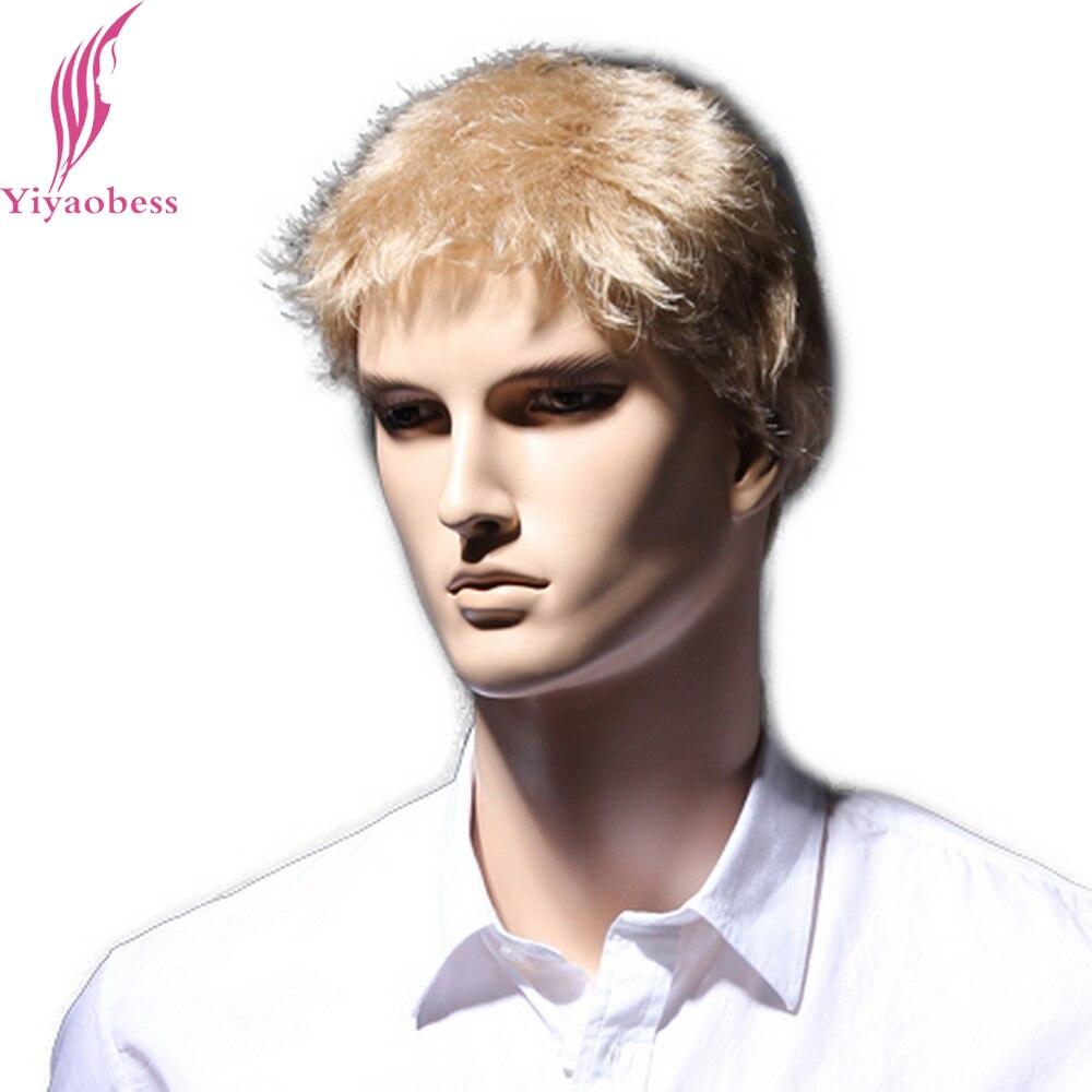 Yiyaobess 6 ιντσών ευθεία ξανθιά σύντομη - Συνθετικά μαλλιά - Φωτογραφία 3