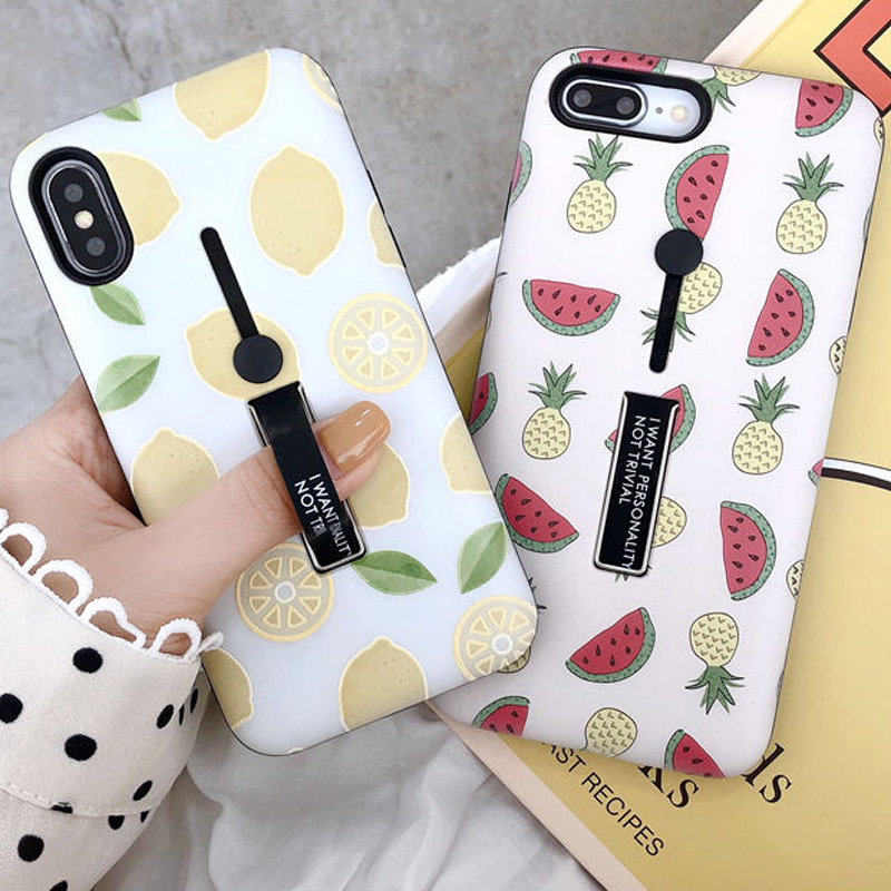 New Watermelon Loop Ring Case for Apple iPhone XR XS X 6 6S 7 8 Plus