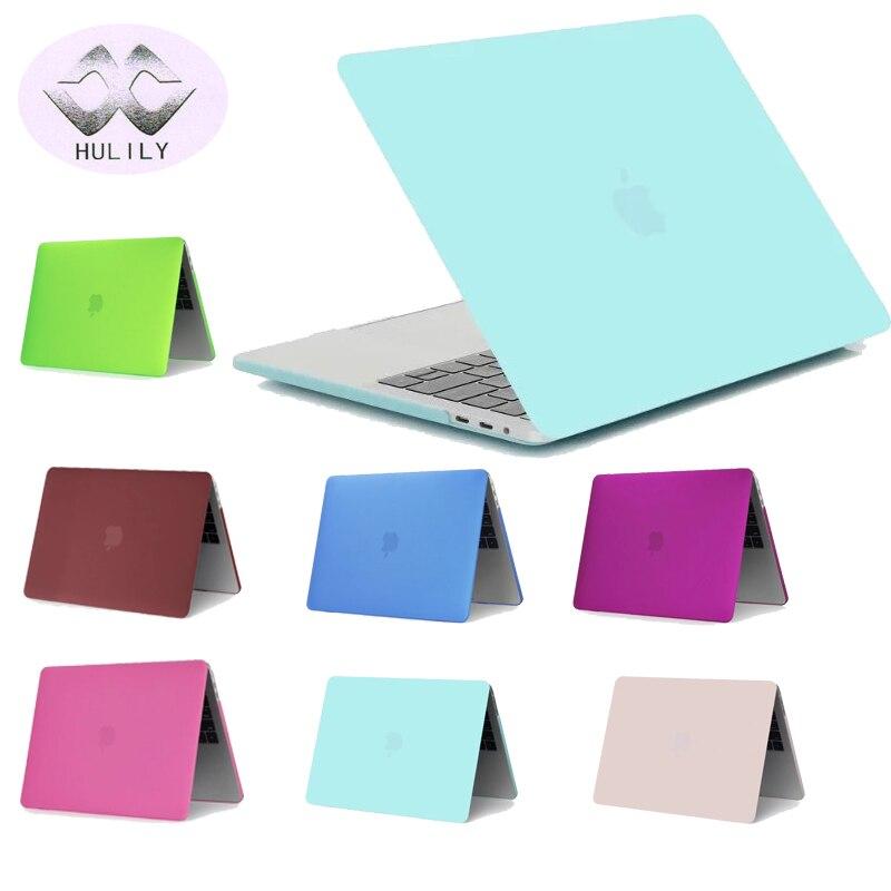 Матовый чехол для MacBook Pro 13 15 12 Retina Air 11 13 Жесткий Чехол защитный для ноутбука черный, красный синий В виде ракушки сумка