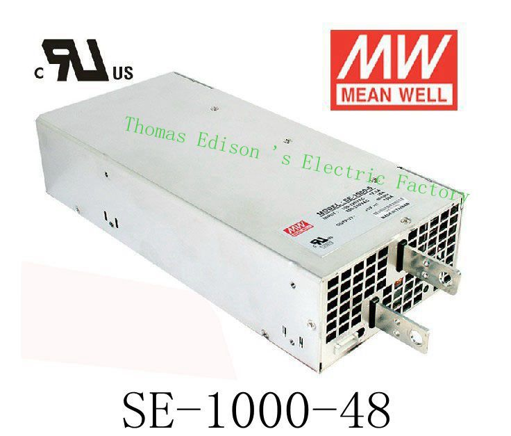 Original MEAN WELL power suply unit ac to dc power supply SE-1000-48 1000W 48V 20.8A MEANWELL original power suply unit ac to dc power supply nes 350 12 350w 12v 29a meanwell