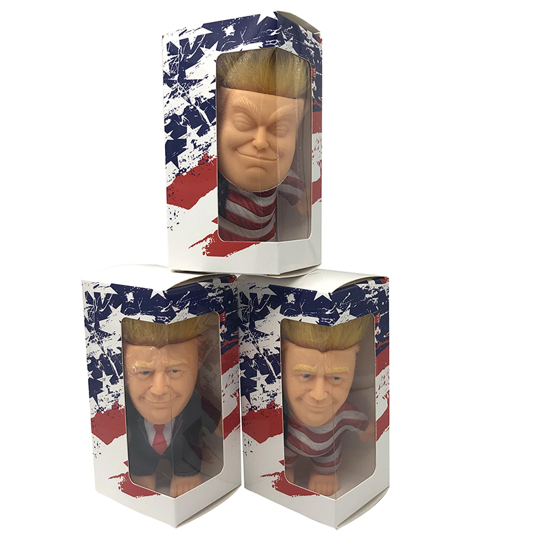 Wholesale Newest Electioneering President Donald Trump Mode Action Figures Doll Long Hair Troll Doll With Clothes Leprechauns