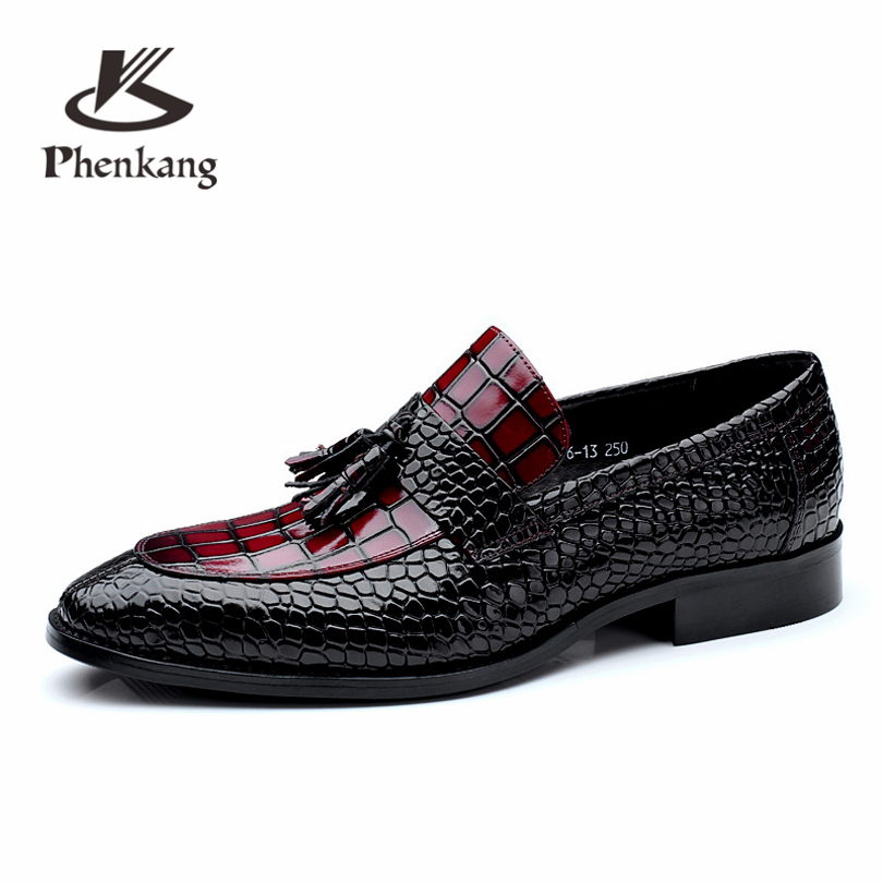 Men genuine leather flat wedding shoes mens wine red black brogue business casual party gentleman wedding shoes CHENGYUAN белозерская алёна сердце из двух половинок page 2