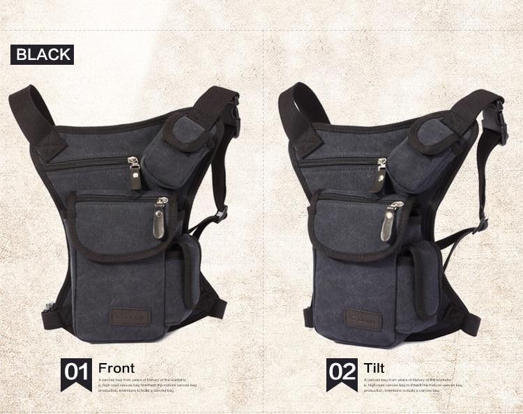 Trgovina na debelo moške pasu torbice vintage platnene - Torbice - Fotografija 4