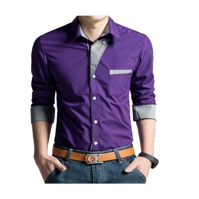 3e82c1d1f 2016 Blanco Camisa Chemise Homme Camisas Hombre camisa de Vestir de Manga  Larga Para Hombre Camisas