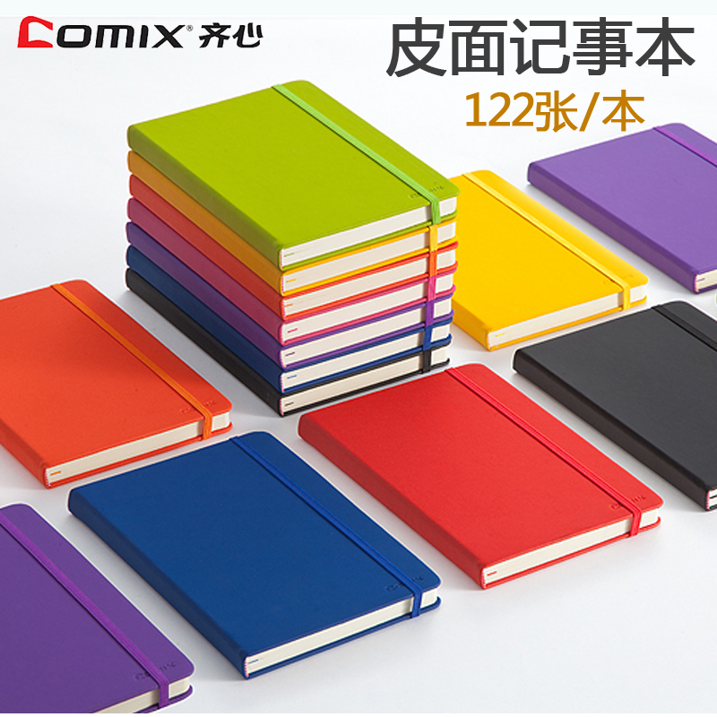 Comix Notebook Thickened A5 Soft Leather Notepad Color Small Clear Portable Diary Book Writing Pads Planners Office Stationery