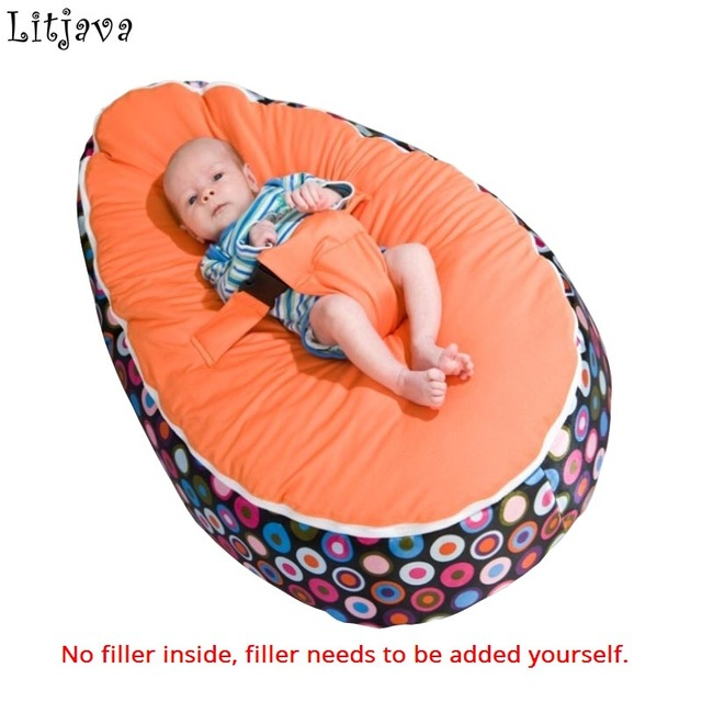 New Fashion Baby Bean Bag Chair Sleeping Bed With Harness Portable Multicolor Kids Sofa Filler