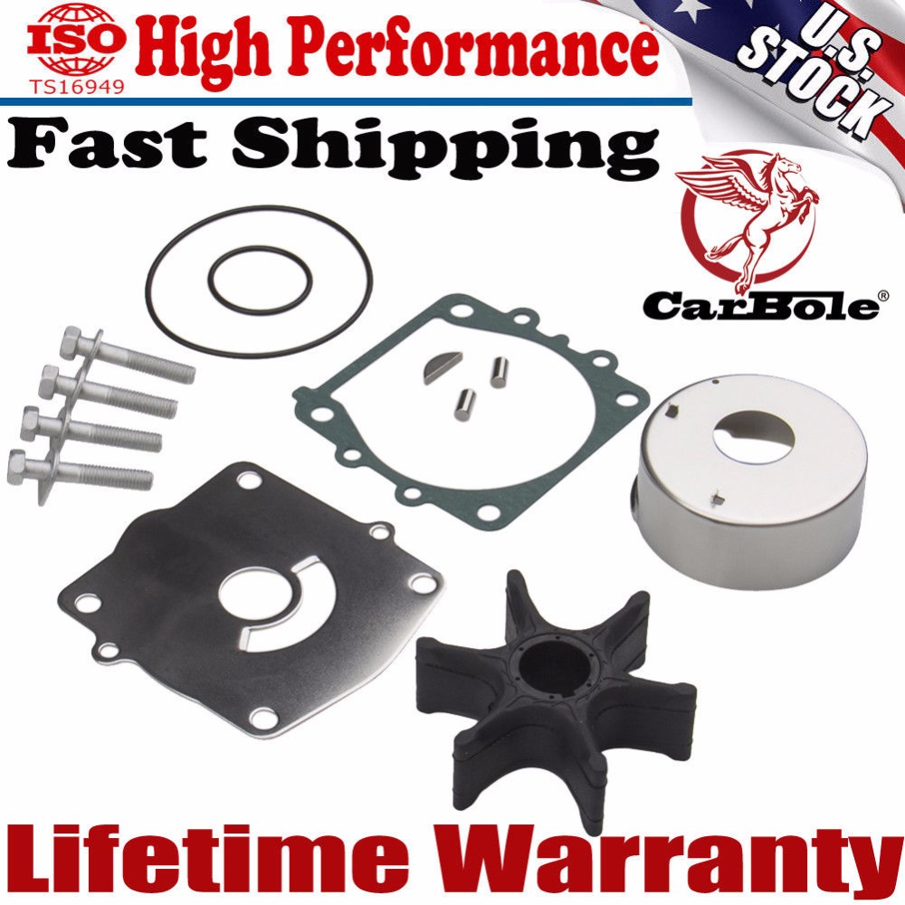 CarBole For Yamaha New Water Pump & Impeller Repair Kit 61A-W0078-A3-00