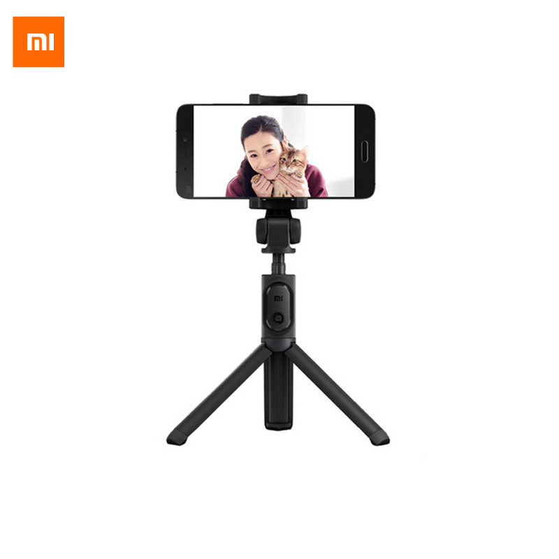 Xiaomi Handheld Mini Tripod Selfie Stick 3 in 1 Extendable Monopod Phone Bluetooth Remote Shutter for iPhone Sumsang Android mini bluetooth selfie stick with led fill light tripod for smartphone extendable monopod for iphone 8 xiaomi samsung android