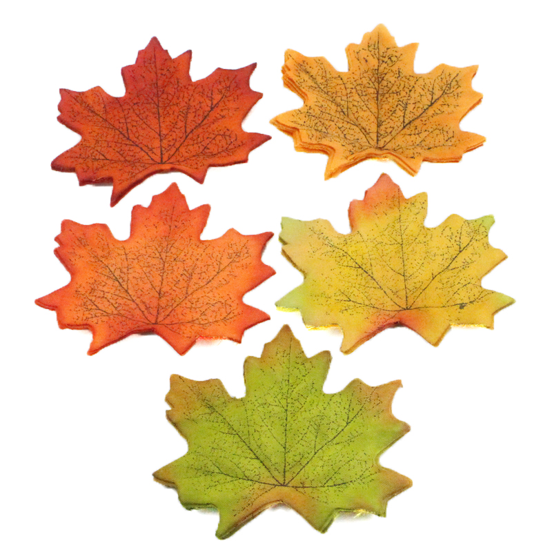 Lucia crafts 7cm Artifical Maple Leaves For Home Wedding Party Decoration Scrapbooking Craft Autumn Fall Leaf 10pcs 086020068