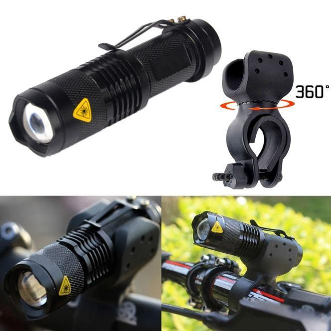 2000 Lumens Q5 Bersepeda Head Lamp Torch 3 Mode MTB Sepeda Depan LED Light Senter 360 Rotating Mounted 7 Watt Sepeda Accessori